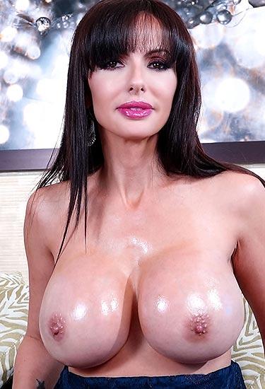 Catalina Cruz oiled big boobs are very juicy and tasty