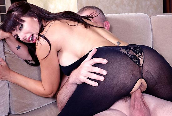 Catalina Cruz Taking It In Her Ass While In Bodystockings